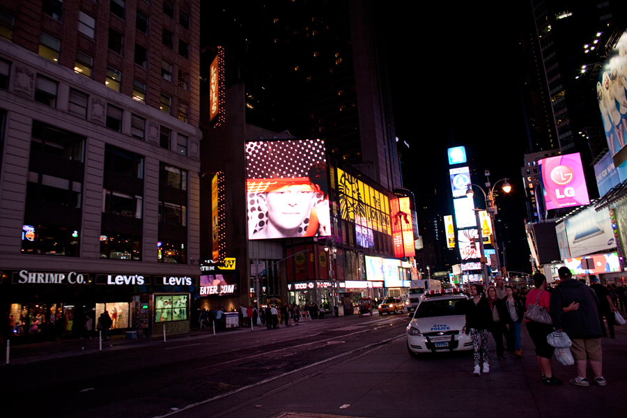 Midnight Moment: INSIDE OUT PROJECT by JR;  11:57pm - midnight,  May 1 - 31, 2013; photograph by Ka-Man Tse for @TSqArts