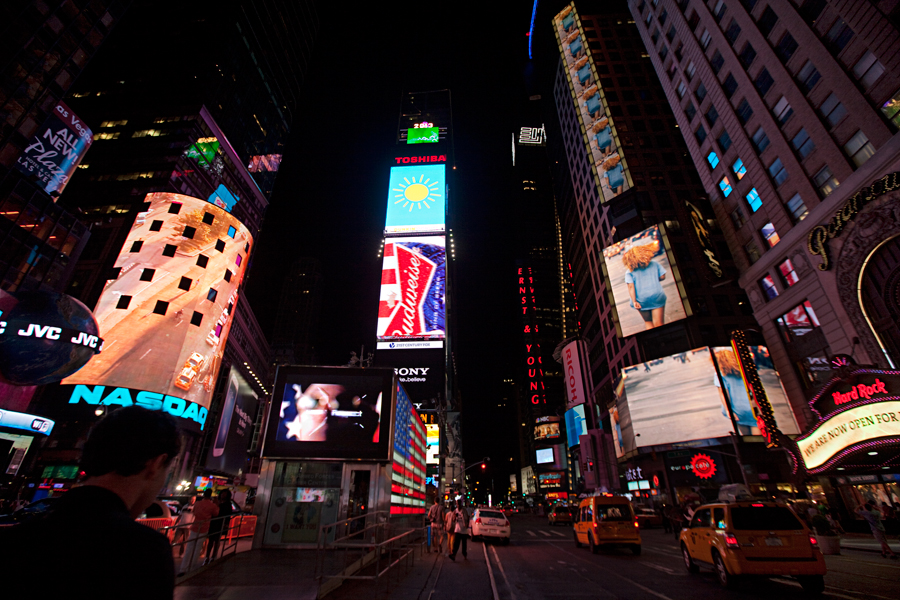 Midnight Moment: Ryan McGinley's Varúð.   July 1 -31, 2013; on  NASDAQ and Thomson Reuters photo by Ka-Man Tse